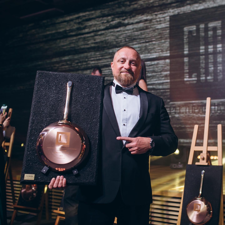 Сковородка французского бренда de Byue. Фото: Национальная ресторанная премия СОЛЬ