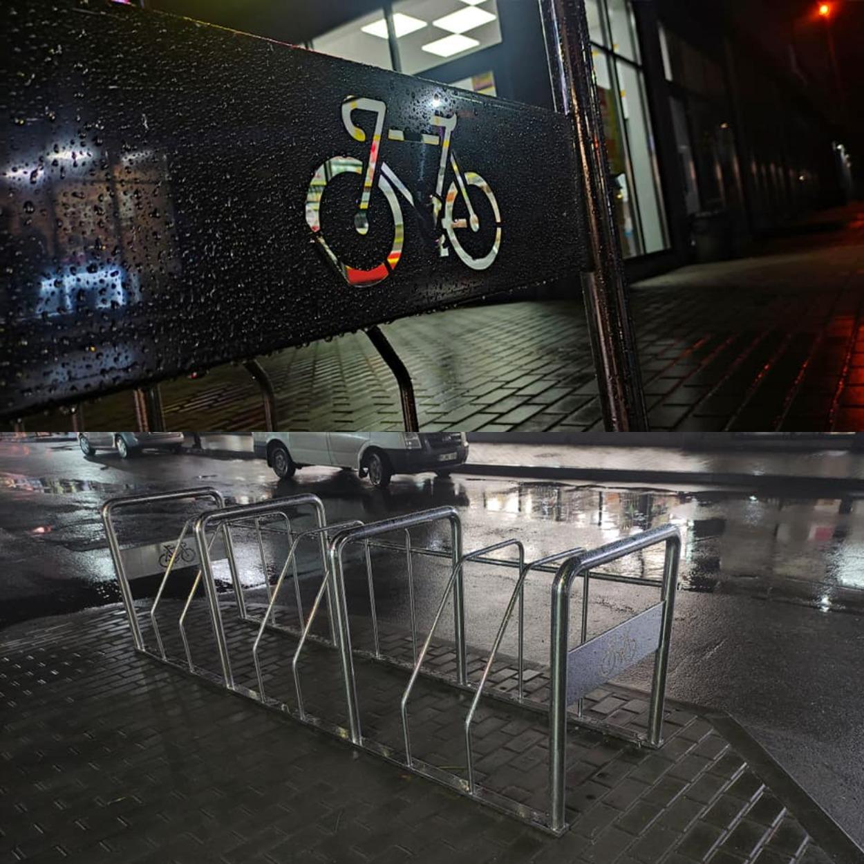 Парковочные столбики на Левобережном-3/ фото: fb Виталия Чуйко