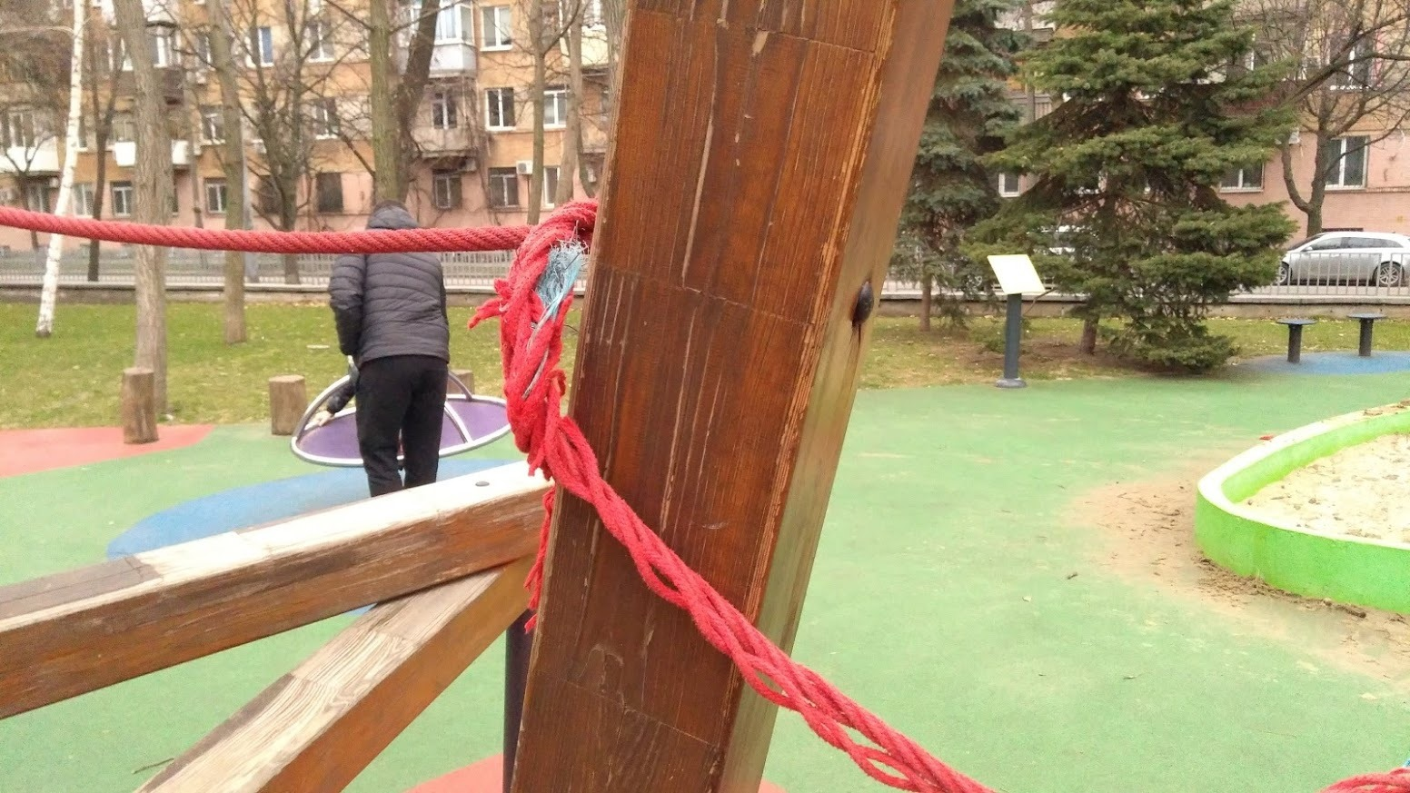 Трос расплетается - фото: fb Mykhailo Dubas