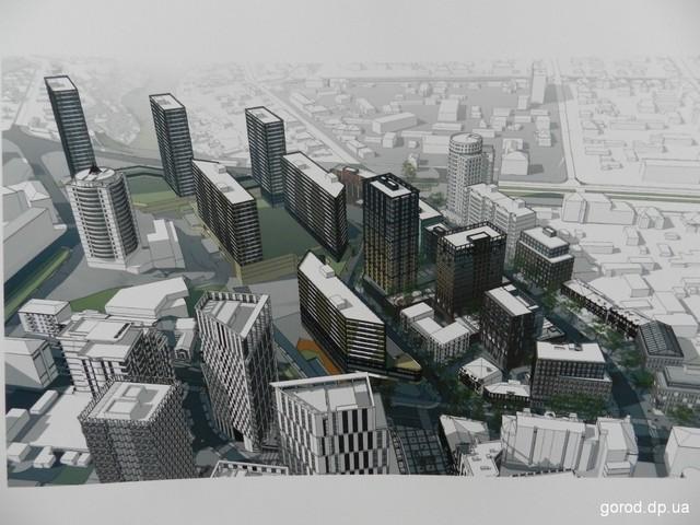 Здания будут разной высоты - фото: gorod.dp.ua