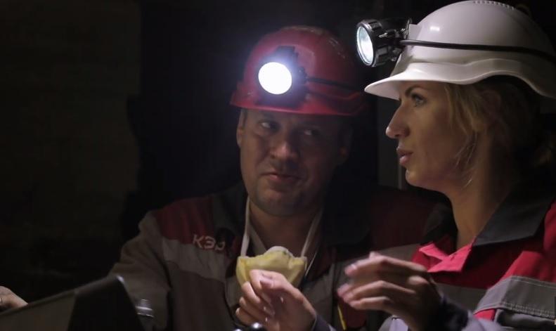 Леся Никитюк в шахте / фото: Ле маршрутка